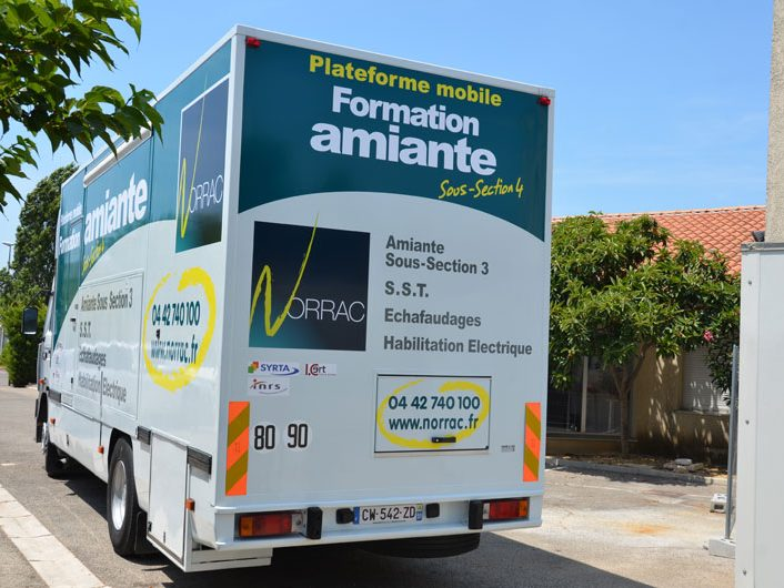 camion formations amiante Norrac